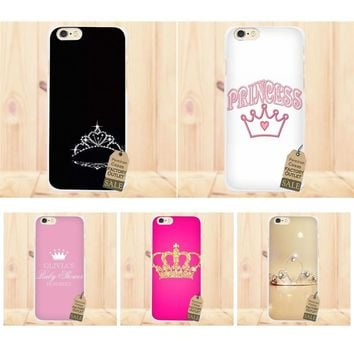 Princess Queen Boss Crown King For Apple iPhone X 4 4S 5 5C SE 6 6S 7 8 Plus For LG G3 G4 G5 G6 K4 K7 K8 K10 V10 V20 Cell Case