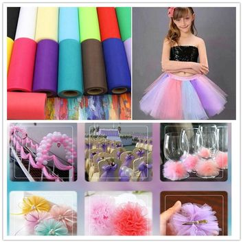 25Yard 15cm Tulle Roll Wedding Decoration Roll Fabric Spool Craft Tulle Fabric Tutu Dress DIY Organza Baby Shower Party Supplies