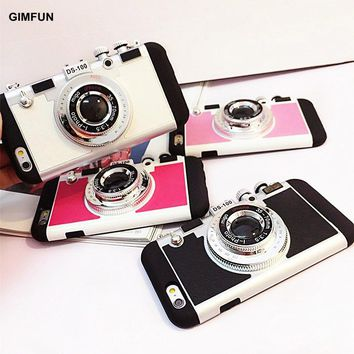 3D cute Camera Phone Case with Strap Rope 4colors