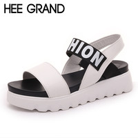 HEE GRAND Summer Gladiator Sandals 2017 New Beach Platform Shoes Woman Slip On Flats Creepers Casual Women Shoes XWZ3346