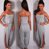 Summer Fashion Women Casual Spaghetti Strap Jumpsuits Overalls = 5709593857