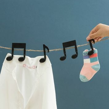 2Pcs/pack Plastic Musical Note Shape Clothes Pegs Clothespin Laundry Hangers Paper Memo Note Card Clip for Home