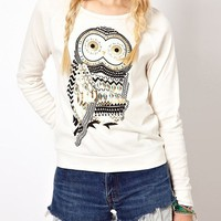 Studed Owl Sweatshirt