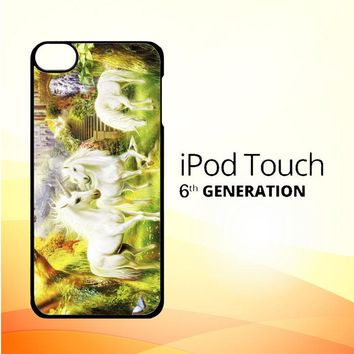 Horse Unicorn WALLPAPER Y0107 iPod Touch 6 Case
