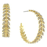 Women's Louise et Cie Feather Hoop Earrings