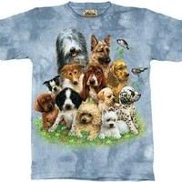 The Mountain Puppies In Grass Dogs Short Sleeve Tee T-shirt