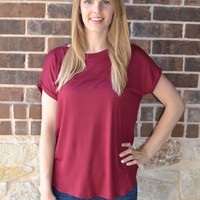Falling for you Top: Burgundy