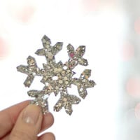 Silver Snowflake Fascinator - Hair Clip - Shimmering Silver Fabric on Metal Hair Clip - Party Must Have - Bridal Wear - Accessory