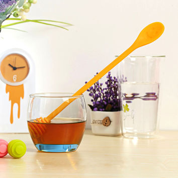 Hot Deal Home Hot Sale Cute Easy Tools On Sale Kitchen Helper Stylish Silicone High Temperature Resistance Spoon [6283295622]