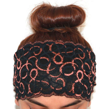 black lace headbands,yoga hairband, headbands,Pilates headbands,headbands,yoga headbands
