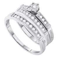 Round Diamond Ladies Fashion Ring in 14k White Gold 0.46 ctw