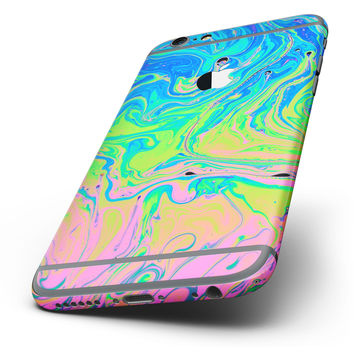 The Neon Color Swirls Six-Piece Skin Kit for the iPhone 6/6s or 6/6s Plus