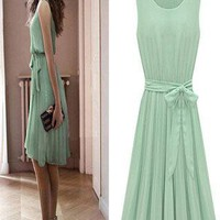 Fashion Mint Green Bat Sleeve Dress from styleonline