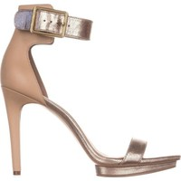 Calvin Klein | Multicolor Vable Ankle-strap Square Toe Platform Sandals | Lyst