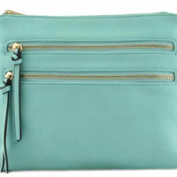 Classic Crossbody Bag- Light Blue