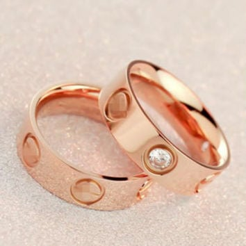"Cute couple rings women ring ""Cartier"" rhinestone  ring on simplicity"