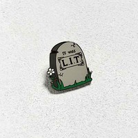 Pintrill Lit Tombstone Pin - Urban Outfitters
