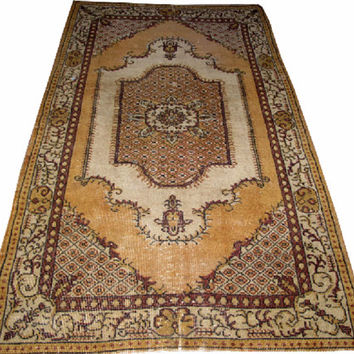 Sale Traditional Design Turkish Vintage Rug 6'11'' x 3'11'' Free Shipping