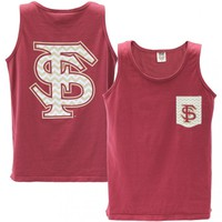 FSU Seminole Apparel | Unisex Garment Dyed Tank with Chevron FS Designs - Women's Fashion - Women's