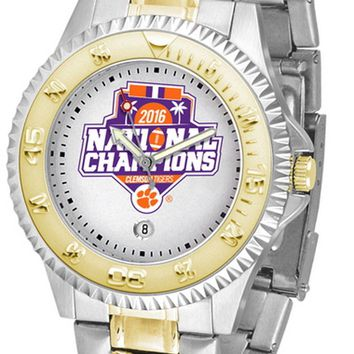 Clemson Tigers Watch 2-Tone Competitor 2016 Championship Ladies or Mens