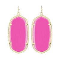 Kendra Scott Danielle Magenta Magnesite Earrings 14K Gold