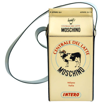 "1990s Moschino ""Milk Carton"" Leather Handbag"