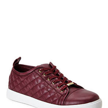 GC SHOES Burgundy Prance Quilted Sneakers