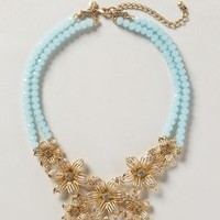 Gilded Gerbera Bib Necklace by Anthropologie Sky One Size Necklaces