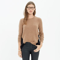 Back-Zip Pullover Sweater in Colorblock