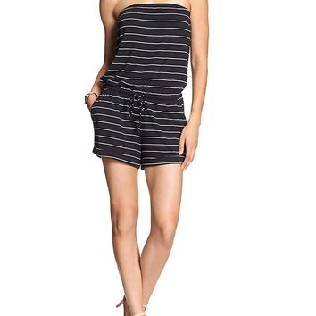 Banana Republic Womens Factory Stripe Tube Romper