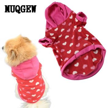 Dog Soft Warm Heart Hooded Coat