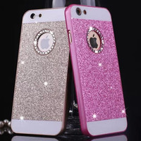For apple iphone 4 4s 5 5s 6 6Plus 6s Plus Shinning Case Sparkle Glitter Bling Diamond Fashion Protector Cell Phone Back Cover