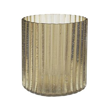 Champagne Fizz Fluted Votive - Small Champagne Gold