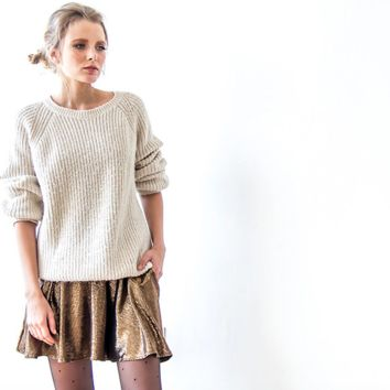 Metallic Bronze Skater Skirt