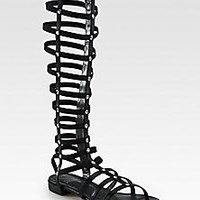 Stuart Weitzman - Tall Gladiator Studded Leather Sandals - Saks Fifth Avenue Mobile