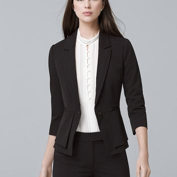 White House Black Market Seasonless Peplum Jacket