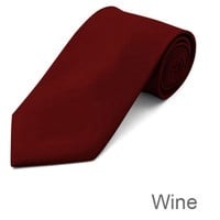 Wine Red Tie and Hanky Set