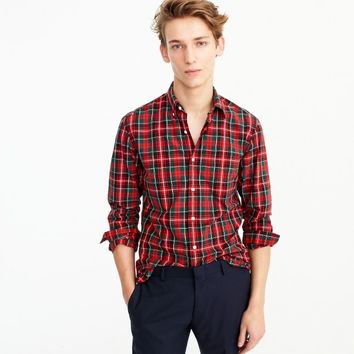 Secret Wash shirt in cherry plaid