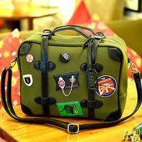 Bestgoods — Cool Retro badge Handbag Shoulder bag