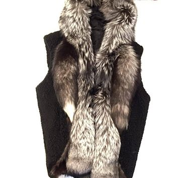 Jakewood - Shearling Silver Fox Tail Vest