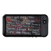 SUICIDE LETTER COVERS FOR iPhone 5