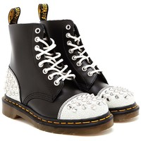 Dr. Martens Studded Leather Air Wair  Boots - Browns - Farfetch.com