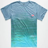 Mowgli Surf Murky Waters Mens Pocket Tee Blue  In Sizes
