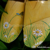 Field of Daisies Custom TOMS Shoes - ADULT