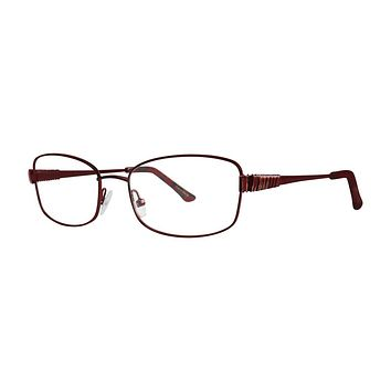Dana Buchman - Clementine 54mm Cranberry Eyeglasses / Demo Lenses