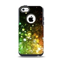 The Neon Glowing Grunge Drops Apple iPhone 5c Otterbox Commuter Case Skin Set