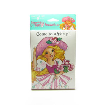 Peppermint Rose Invitations Vintage Birthday Party Invite Cards MIP Mint in Package Factory Sealed
