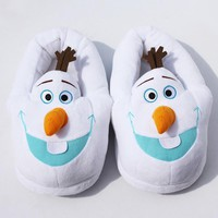 11'' 28cm Winter Slipper Olaf Plush Slippers In door shoes free size