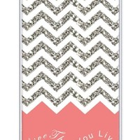 Chevron Pattern Grey White Live the Life You Love, Love the Life You Live- Apple iPhone 4 Case - iPhone 4s Case - Hard Plastic Case