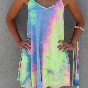 Gypsy Tie Dye Dress - Dresses - Shop by Product - Womens